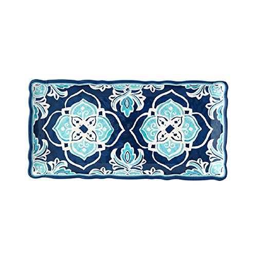 Le Cadeaux 297HAV Havana Biscuit Tray, 10.6 inches, Blue ()