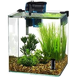 Penn Plax Vertex Aquarium Kit for Fish and Shrimp With Filter, Thermometer, Desktop Size 2.7 Gallon