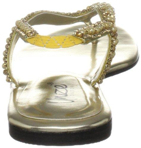 Unze Evening Sandals Womens Flip-flops L18358W Gold AFIyfiKra6