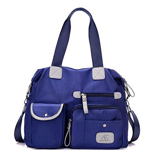 Aoligei Sac de messager grande capacité unique sac à bandoulière en nylon Loisirs Sport Dame B