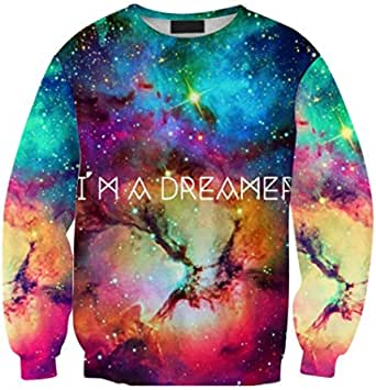 Coloured starry sky 3D digital printing sweatshirt