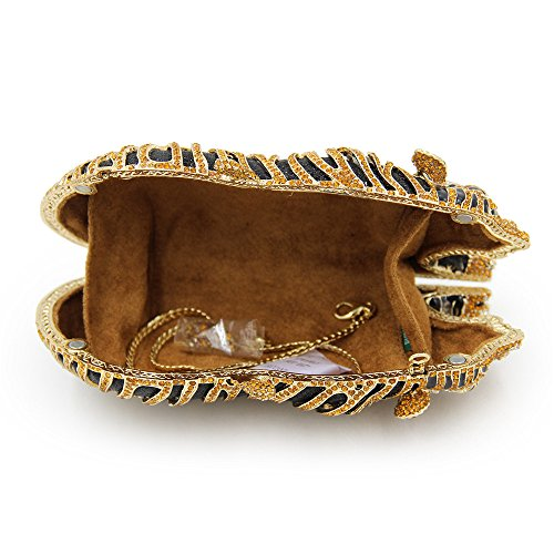 Bolso Animal Forma Lujo Tigre Bolso Boda Embrague de Tarde Rhinestone Lovely Gold Mujeres Color de Calidad Embrague rabbit Nupcial Gold Alta wxfqBtCB1z