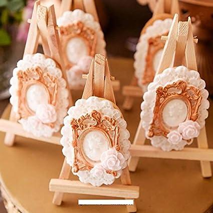 Anyana Vintage victorian Picture oval royal Frame Photo mirror mould cake Fondant gum paste mold for Sugar paste gumpaste designer cupcake decorating topper decoration sugarcraft decor