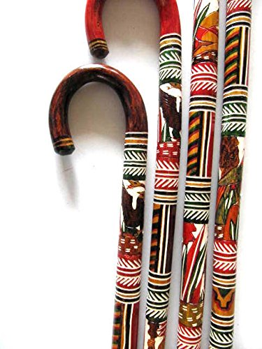 Walking Canes Walking Sticks... Mexican Mayan/Aztec Designs