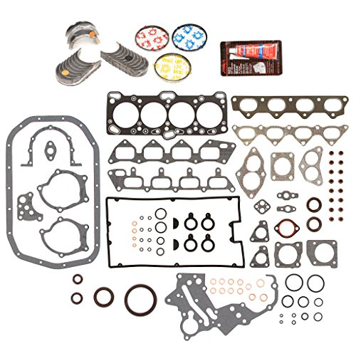 Evergreen Engine Rering Kit FSBRR5005EVE\0\0\0 Fits 89-92 Mitsubishi Eagle Plymouth 2.0 4G63 4G63T Full Gasket Set, Standard Size Main Rod Bearings, Standard Size Piston Rings