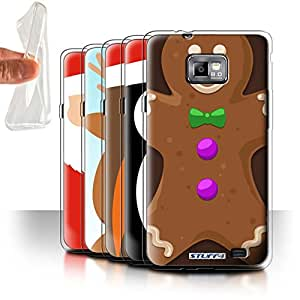 STUFF4 Gel TPU Phone Case / Cover for Samsung Galaxy S2/SII / Pack 6pcs / Christmas Character Collection