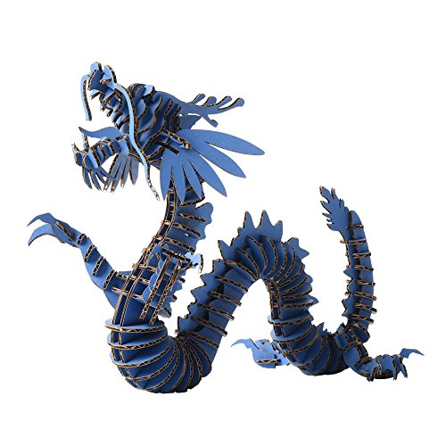 Paper Maker 3D Jigsaw Puzzle Dragon (Small, blue)