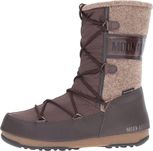 E Moon Vienna Boot W Fashion Winter Women's Dark Brown Beige Felt Tecnica 1tFw7WTqq