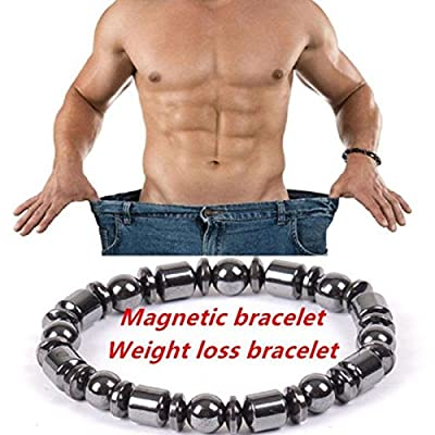 Auntwhale Magnetic Bracelet Unisex for Daily Weight Loss Round Stone Slimmy Health Care