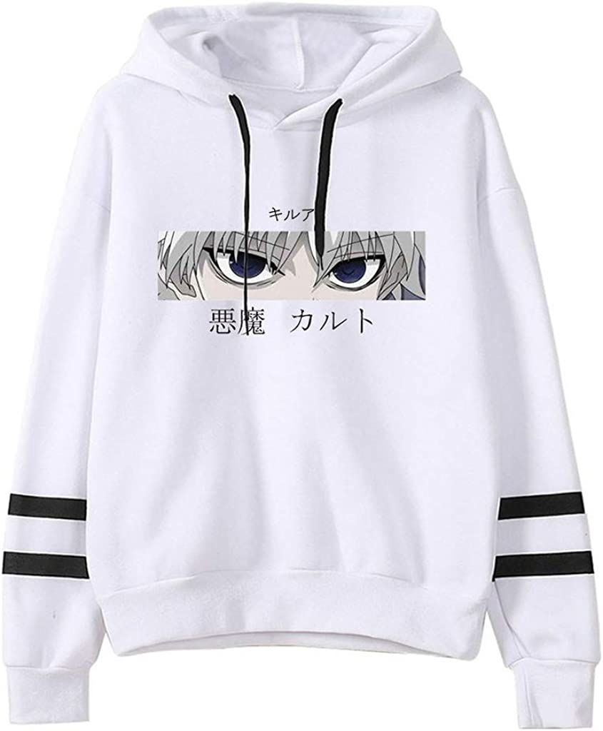 KIACIYA Pull Hunter x Hunter Gon et Killua Gar/çon Fille Femme Homme Sweatshirt Capuche Manche Longue Poche Kangourou Sweat Imprim/é Hoodie Manga Streetwear Japonais Pullover Hoodie