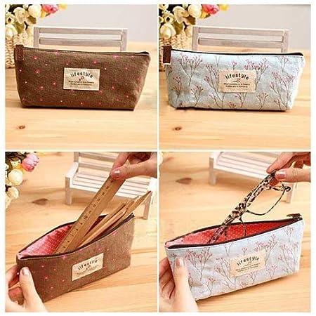 HmgSea Pastorable Canvas Pen Bag Pencil Case, Brand New, Different Colors,Set Of 4