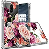 Osophter Compatible with Oneplus 6T,OnePlus 6T Flower Case Shock-Absorption Flexible TPU Rubber Soft Silicone Full-Body Protective Cover Oneplus 6T McLaren(Clear Flower)