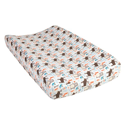 Trend Lab Scandi Forest Deluxe Flannel Changing Pad Cover by Trend Lab