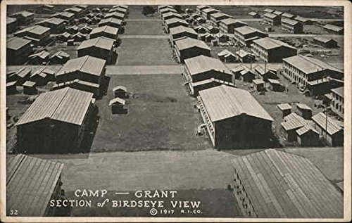 Camp Grant, Section of Birdseye View Military Original Vintage Postcard