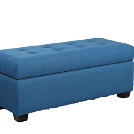 Astounding Amazon Com Kimiben Home Storage Bench Burlap Sofa Stool Inzonedesignstudio Interior Chair Design Inzonedesignstudiocom