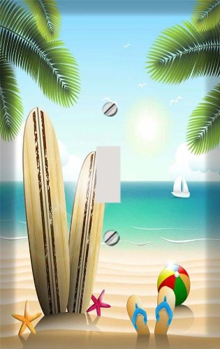 (Summer Surfboard Beach Switchplate - Switch Plate Cover)