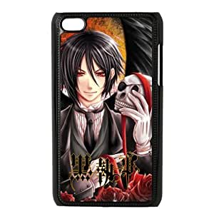 Customize Generic Hard Plastic Shell Phone Cover Kuroshitsuji Black Butler Back Case Suitable For iPod 4 Touch 4th Generation
