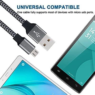 Duractron 3 x 2m Cable USB Micro USB para Smartphones Android, Samsung, HTC, Nokia, Sony y más, color negro