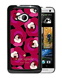 New Fashion Custom Designed Kate Spade Cover Case For HTC ONE M7 Black Phone Case 253