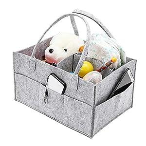 Akin Baby Diaper Storage Bag Nursery Storage Bin Portable Changing Table Non-Woven Foldable Compact Baby Basket