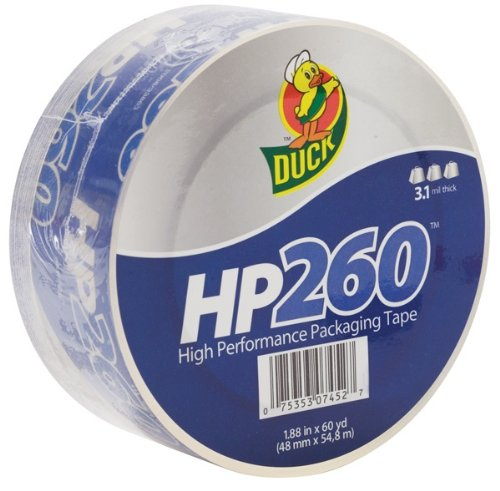 Duck Brand 655075 HP260 1.88 Inch by 60 Yard High Perfomance Carton Sealing Tape, Clear