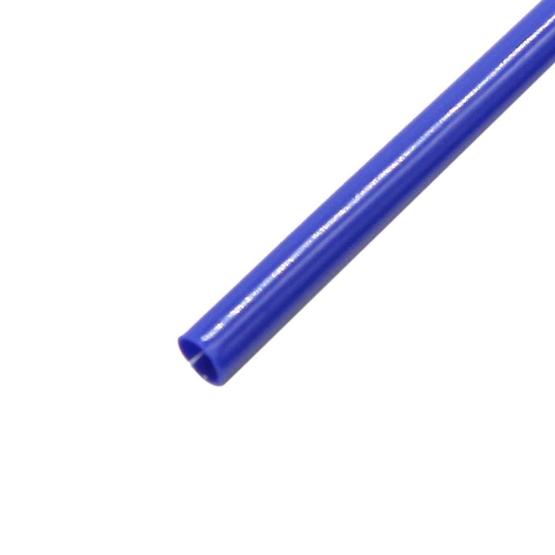 sourcing map 72pcs 23.5cm Length Motorcycle Wheel Steel Wire Spoke Reflective Clip Tube Dark Blue