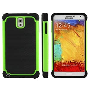 Honeycomb Texture Plastic + Silicone Combination Case for Samsung Galaxy Note 3 / N9000 (Green)