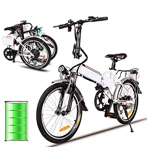 Miageek Folding Aluminum Electric Bike with 36V Removable Lithium-Ion Battery Lightweight E-Bike with 250W/350W Powerful Motor and Fast Battery Charger (19