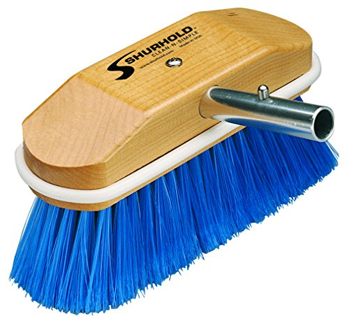 """Price comparison product image Shurhold 310 8"""" Window and Hull Brush with Extra Soft Blue Nylon Bristles"""