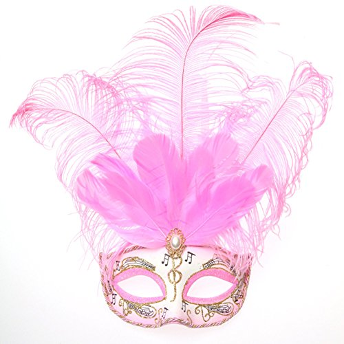 Cat Feather Mask - Masquerade Mask/Catwalk mask/Feather Half Face Mask fun