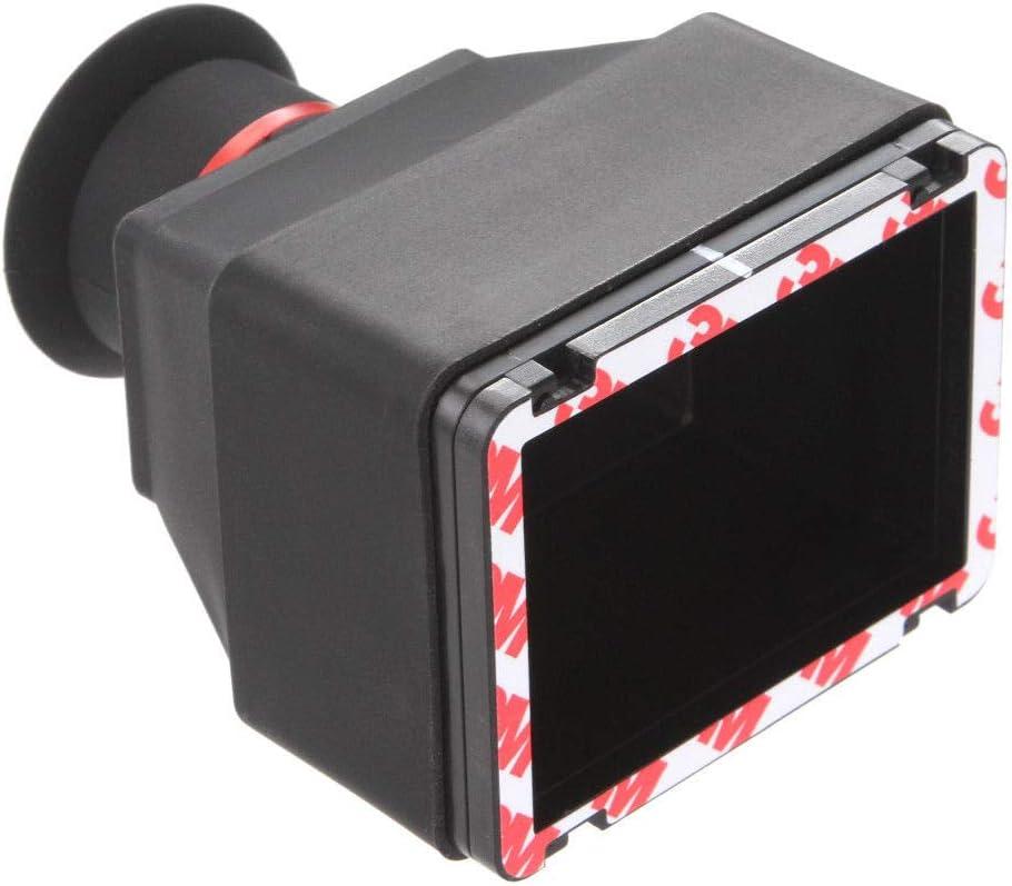 Runshuangyu Universal 3 3X Magnification Micro Single Camera LCD Screen Zoom Viewfinder Loupe Sunshield for Shooting Video DSLR Nikon D7000 Canon 5D Camera
