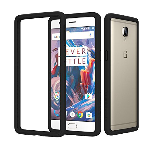 competitive price 5f3a5 ca747 RhinoShield Bumper Case for OnePlus 3/3T [CrashGuard] | Shock Absorbent  Slim Design Protective Cover [3.5M/12ft Drop Protection] - Black
