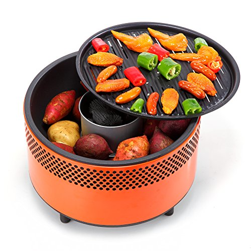 Kbabe Portable Charcoal Barbeque Grill - Smoke Reduction ...