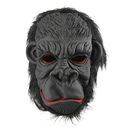 Halloween Party Cosplay Costume Porps Latex Smile King Kong Ape Full Head Mask]()