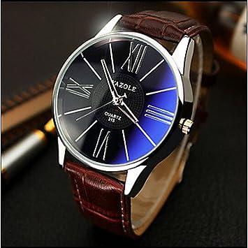 Fashion Watches Relojes Hermosos, Yazole Relojes Relojes de los Hombres sinfonía Azul Espejo Idea de