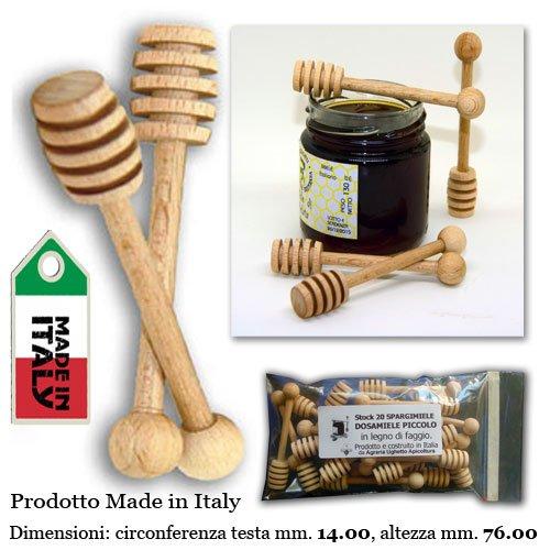 5 opinioni per Stock 20 SPARGIMIELE DOSAMIELE PICCOLO in legno di faggio. Prodotto e costruito