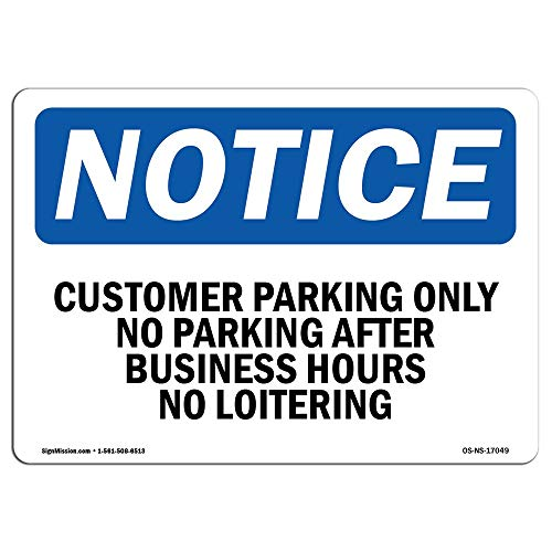 OSHA Notice Sign OSHA No Loitering Sign Protect Your Business Construction Site Warehouse Shop Area Metal Tin Sign Outside Decor Aluminum Sign for Garage Driveway from Moonluna
