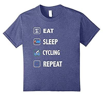Eat Sleep Cycling Repeat T-Shirt Funny Sport Game Gift