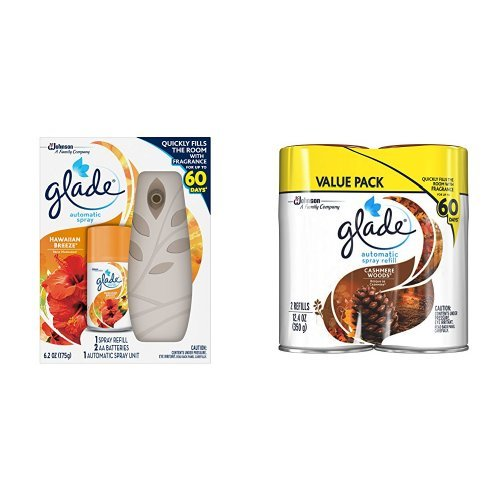 Glade Automatic Spray Hawaiian Breeze Starter + Refill - Cashmere Woods by Glade
