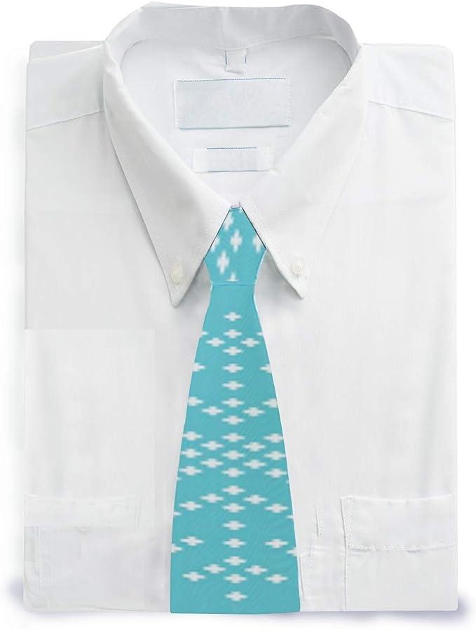 MALPLENA - Corbata de satén con diseño de copo de nieve azul ...