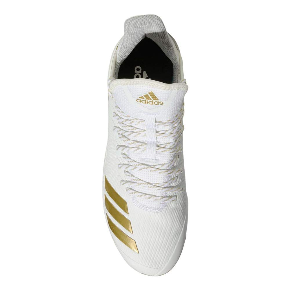 adidas Icon 4 Cleat - Men's Baseball 9.5 White/Gold Metallic by adidas (Image #2)
