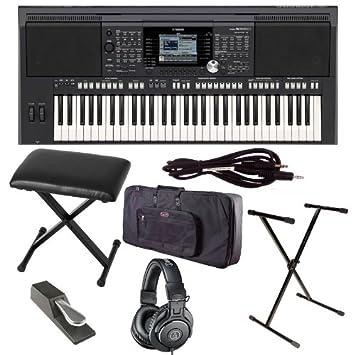 Yamaha PSR S950 with Gator Case, ATH-M30x Headphones, Stand