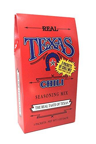 Real Texas Chili Seasoning Mix - 3 Packets 3oz Each