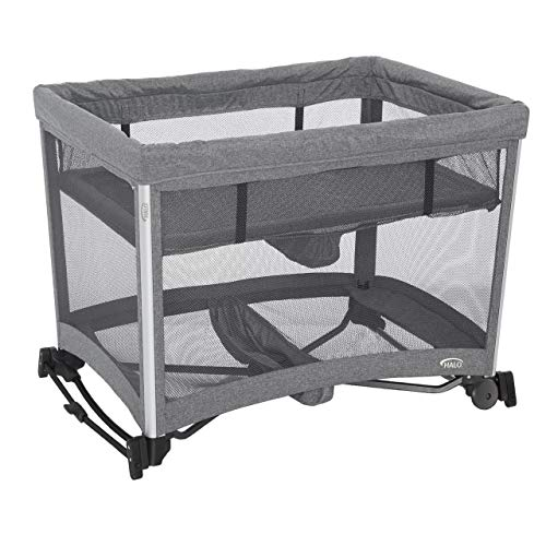 51pqRMLz0BL - HALO 3-in-1 DreamNest Plus Bassinet, Portable Crib, Travel Cot With Rocking Attachment, Breathable Mesh Mattress, Easy To Fold Pack And Play