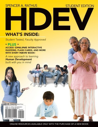 Download HDEV (with Review Cards & Printed Access Card) by Spencer A. Rathus (December 22,2008) PDF