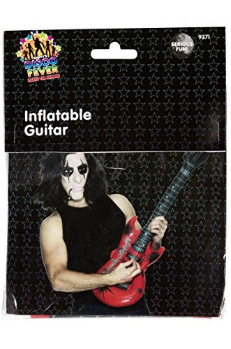 Smiffy's Men's Inflatable Guitar Assorted Colours 99Cm, Multi, One (1 99 Costume)