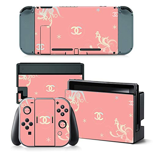 Vinyl Skin Cool Sticker for Nintendo Switch Full Set Faceplate Cover Decals for Girl with 2 Pcs Screen Protector(Console & Joy-con & Dock & Grip)