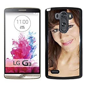 Beautiful Designed Cover Case With Lena Philipsson Brown Smile Lips Shoulders For LG G3 Phone Case