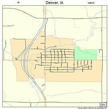 Amazoncom Large Street Road Map of Denver Iowa IA Printed