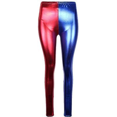 88df7789c69de Girlzwalk Women's Red & Blue Metallic Harlequin Spandex Leggings (S ,M,L,XL,XXL,XXXL)